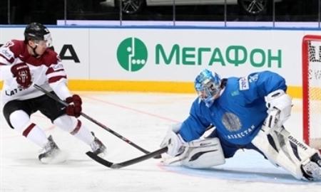 Отчет о матче чемпионата Мира Казахстан — Латвия 4:5
