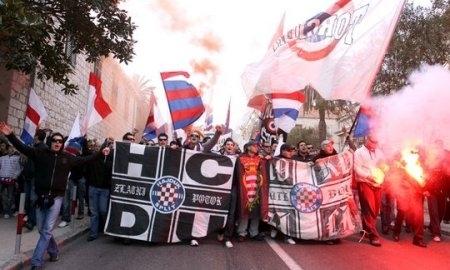 Болельщики «Хайдука» не давали спать футболистам «Шахтера»