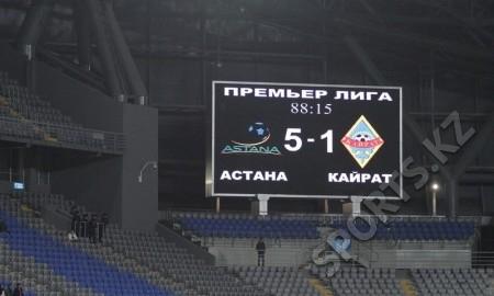 «Астана» — «Кайрат» 5:1. По-чемпионски