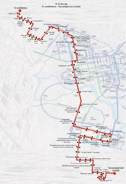 Схемы движения маршрутов: