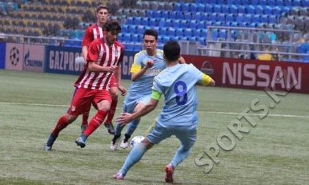 «Астана» U-19 уступает «Атлетико» после первого тайма