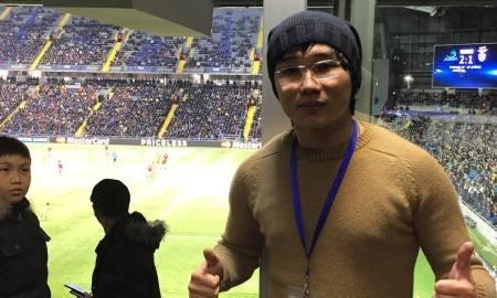 Кайрат Нуртас посетил матч «Астана» — «Бенфика»