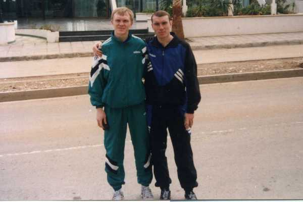 1996 год. Александр Близнюк и Максим Низовцев (сборы на Кипре)