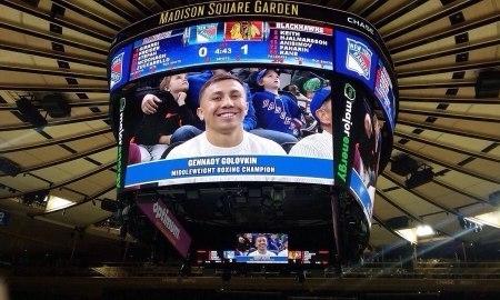 Геннадий Головкин вновь побывал на матче НХЛ