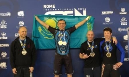 Айдар Махметов завоевал две золотые медали на чемпионате Европы по джиу-джитсу