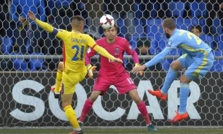 Сборная Казахстана нанесла три удара в створ в трех матчах отбора на чемпионат Мира-2018