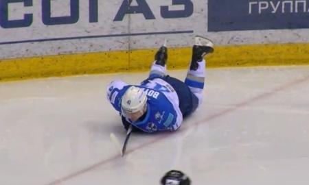 Бойд покинул лед после удара хоккеиста «Трактора»