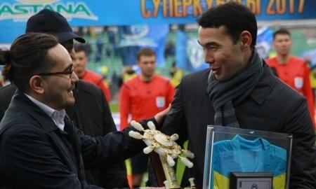 «Астана» подарила Нурдаулетову штурвал