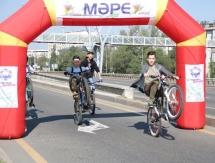 В Алматы состоялся велопробег, посвященный Дню спорта