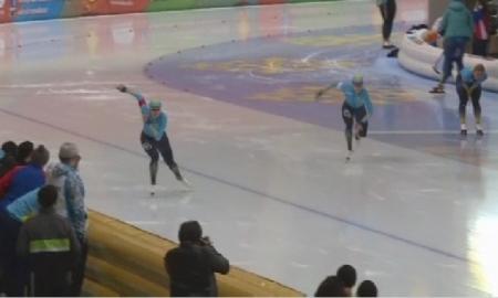 Стартовал чемпионат Казахстана по конькобежному спорту на отдельных дистанциях