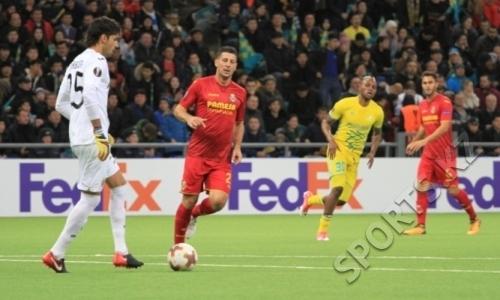 «Вильярреал» после победы над «Астаной» с первого места вышел в плей-офф Лиги Европы