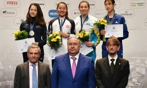 Казахстанская шпажистка выиграла «бронзу» чемпионата мира среди кадетов