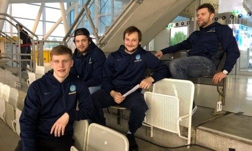 Хоккеисты сборной Казахстана посмотрели игру будущего соперника по чемпионату мира
