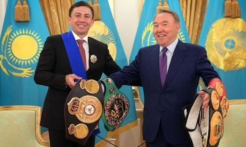 «Ты непревзойденный». Геннадий Головкин встретился с Нурсултаном Назарбаевым