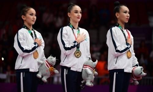 «У меня слов даже нет». Наставница гимнасток, принесших Казахстану седьмое «золото» Азиады-2018
