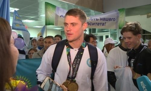 Чемпиона Азиады Дмитрия Алексанина встретили в Кокшетау