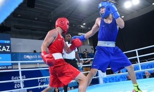 «Трижды у меня отбирали победу». Казахстанский боксер крайне расстроен поражением в финале ЮОИ-2018