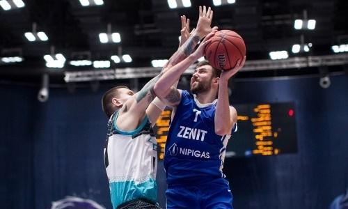 Баскетболисты «Астаны» обыграли «Зенит» вматче чемпионата Единой лиги ВТБ