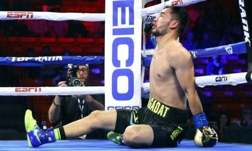 Казахстанский боксер Top Rank побывал в нокдауне и проиграл первый бой в профи