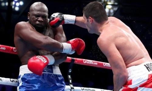 Видео нокдауна экс-боксера «Astana Arlans» в бою с бывшим соперником Джошуа и Фьюри