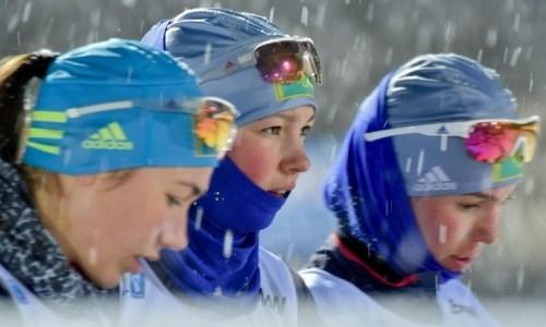 Казахстанские биатлонистки выступили в спринте на этапе Кубка мира
