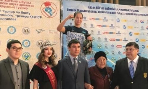 Впервые лучшим боксером международного турнира в Караганде стала девушка