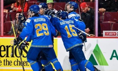 Сборная Казахстана разгромила Данию и осталась в элитном дивизионе МЧМ
