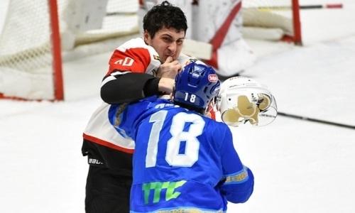 Самый крутой нокаут сезона и очередное спорное решение судей. Чем запомнится матч КХЛ «Барыс» — «Авангард»