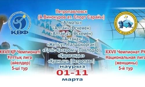 В Петропавловске стартует пятый тур женской Национальной лиги