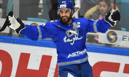 Капитан «Барыса» единолично возглавил гонку бомбардиров плей-офф КХЛ