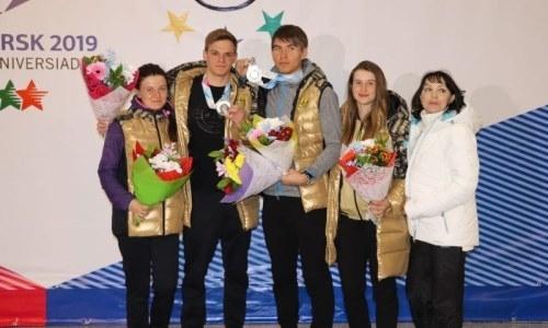 Акмолинцы встретили серебряных призеров Универсиады