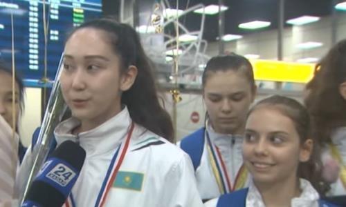 «Мы безумно счастливы». Казахстанские гимнастки вернулись с наградами из Сингапура