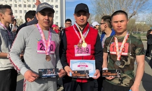 Военнослужащий РгК «Запад» стал победителем «Atyrau Marathon-2019»