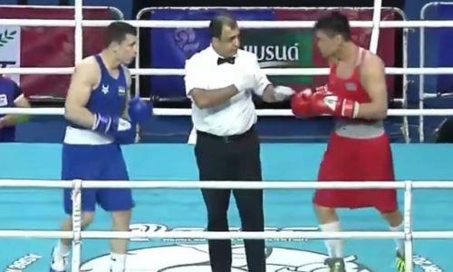Видео победного боя казахстанского боксера над узбекским «Монстром» на ЧА-2019