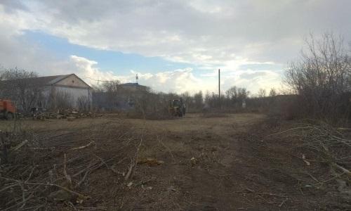 В селе Рузаевка начались работы по постройке стадиона