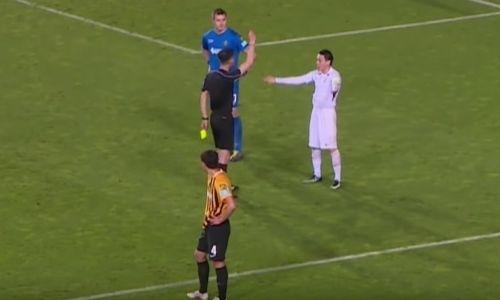 Видео неназначенного пенальти в ворота «Кайрата» с удалением капитана «Атырау»