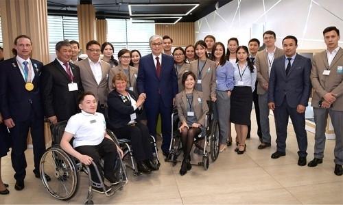 Касым-Жомарт Токаев посетил Паралимпийский тренировочный центр