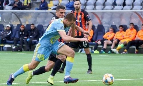 Отчет о матче Премьер-Лиги «Астана» — «Шахтёр» 1:2