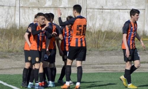 «Шахтер-Булат» на последних минутах вырывает победу у «Актобе-Жас» в матче Первой лиги