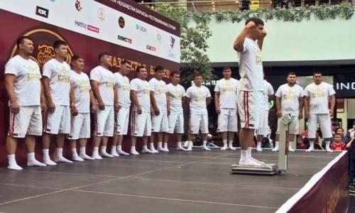 Участники турнира «Қазақстан барысы-2019» прошли процедуру взвешивания