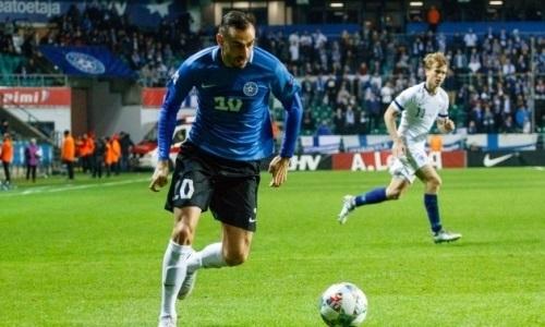 Нападающий «Шахтера» провел полный матч за сборную Эстонии