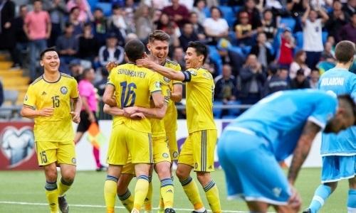 Сборная Казахстана повторила свой рекорд под эгидой УЕФА