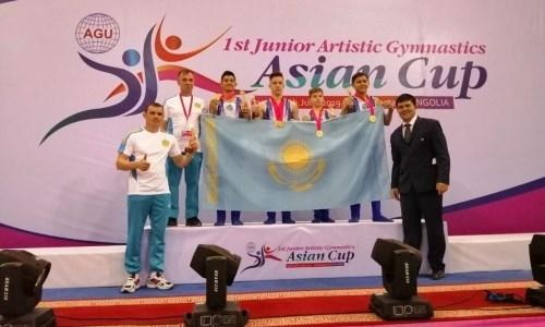 Юниорская команда Казахстана по спортивной гимнастике победила на Кубке Азии