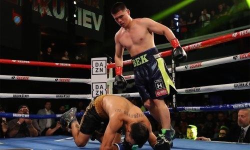 Узбекский обидчик Алимханулы и Альжанова нокаутировал аргентинца в дебютном бою в профи