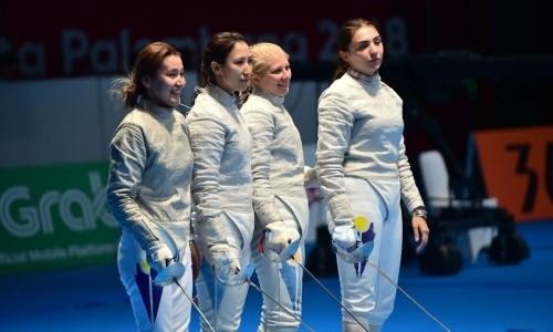 Женская команда Казахстана по фехтованию на сабле уступила в матче за бронзовую медаль ЧА-2019