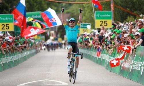 «Не ожидал, что буду настолько силен». Гонщик «Астаны» эмоционально прокомментировал победу на втором этапе «Тура Швейцарии»