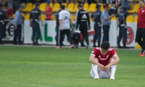 Еще один игрок «Актобе» получил повреждение