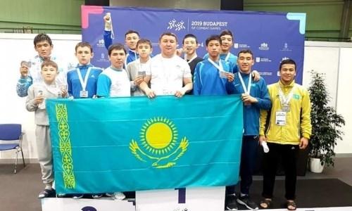 Казахстанские борцы-вольники выиграли общий зачет Всемирных юношеских Игр