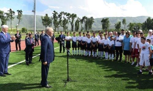 Нурсултан Назарбаев открыл спортивный комплекс на своей малой родине