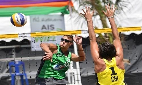 Казахстанские пляжники уступили чилийцам в 1/16 финала молодежного чемпионата мира